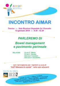 Locandina incontro AIMAR a Treviso