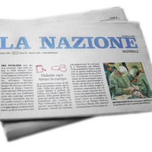 """Articolo de """"La Nazione"""" 7 settembre 2019"""